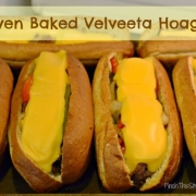 Oven Baked {Velveeta} Philly Cheese Steak Hoagies
