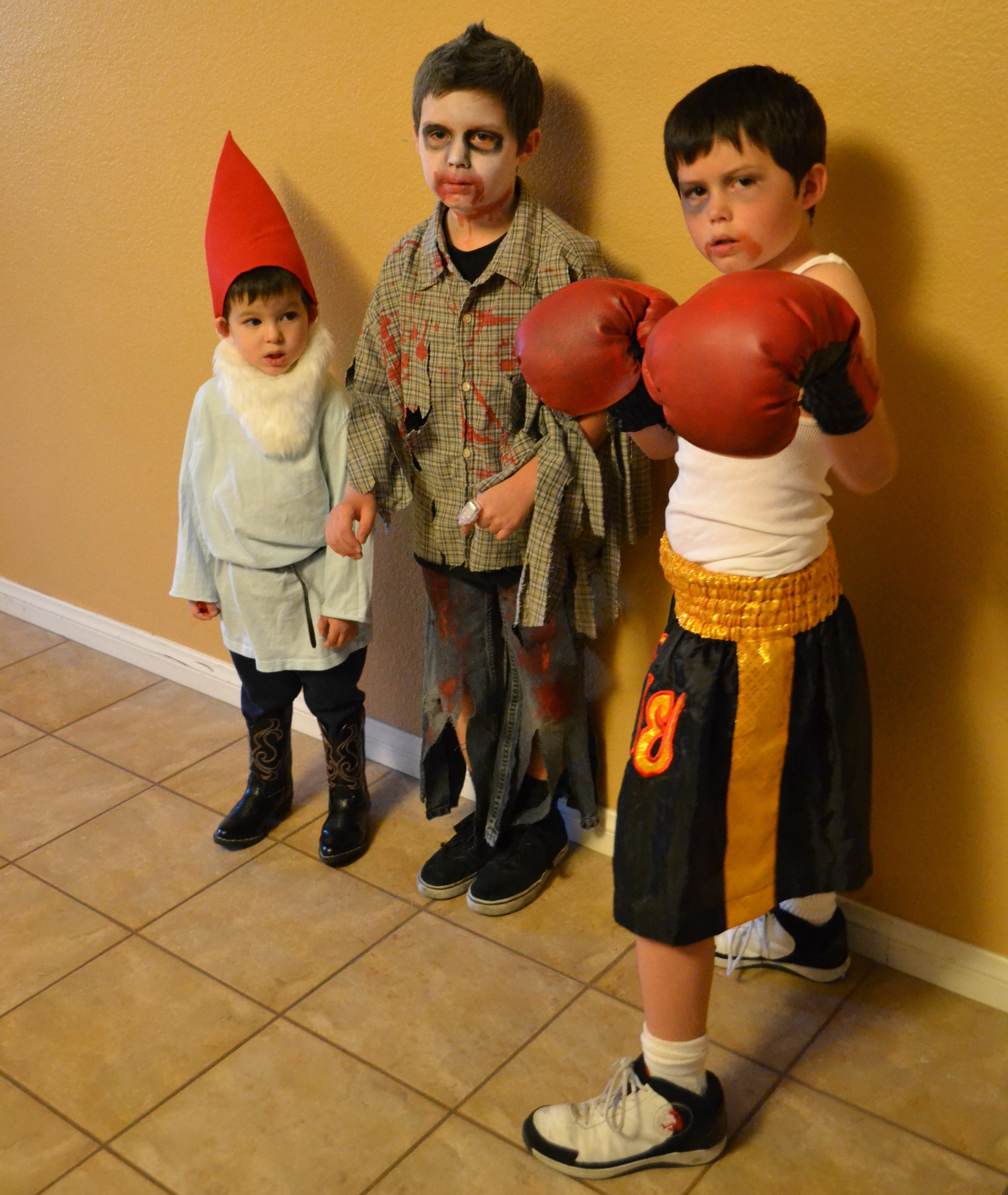 Gnome zombie boxer homemade halloween costumes vs store for Homemade halloween costumes for little boys