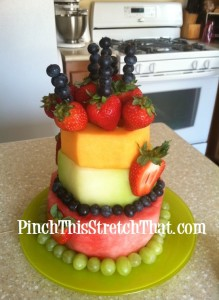 "Birthday Fruit ""Cake"""
