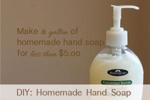 DIY homemade hand soap