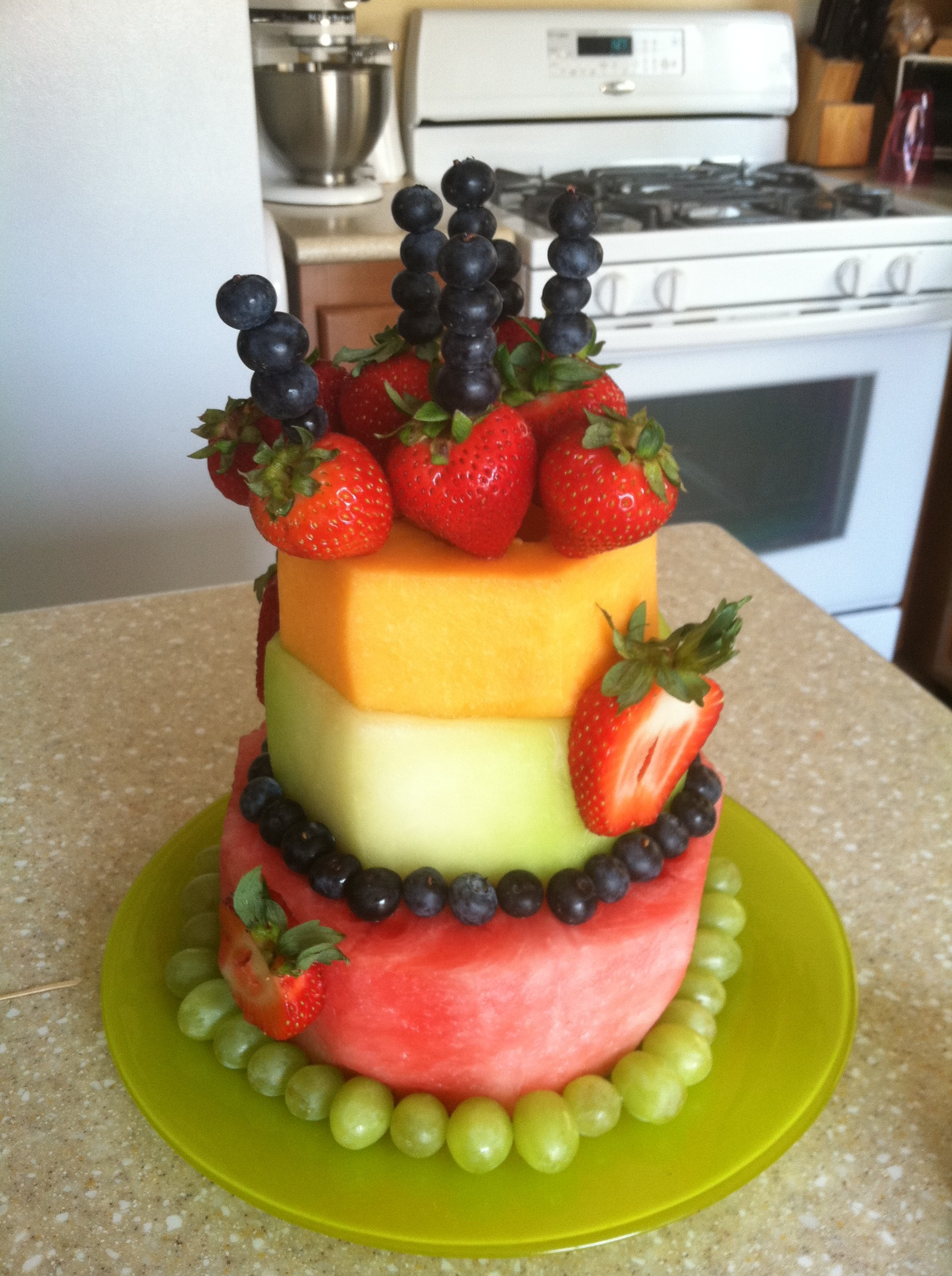 A Healthier Cake Birthday Fruit Cake