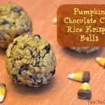 Pumpkin Chocolate Chip Rice Krispies
