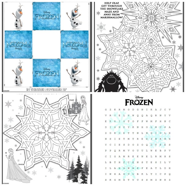 Frozen Movie Review Frozen Printable Activities
