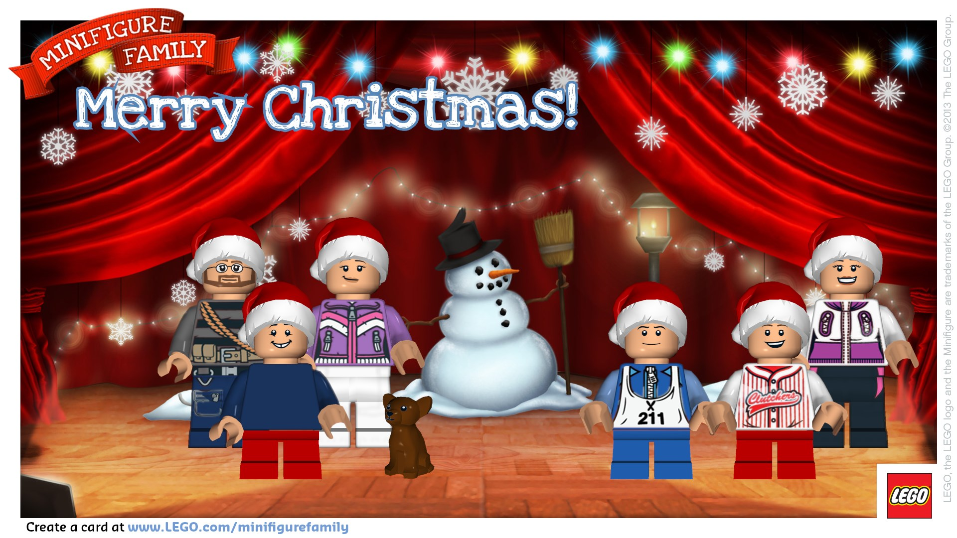 Personalized LEGO Minifigure Christmas Card