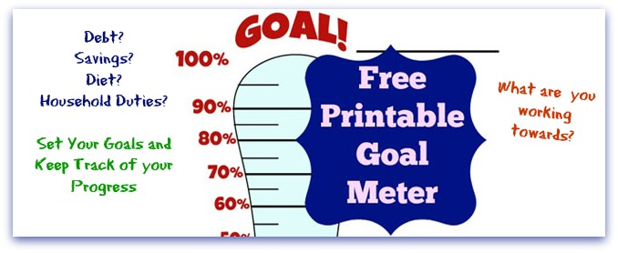 goal thermometer template