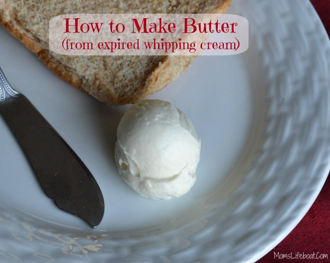 How to Make Butter Using Expired Whipping Cream - MomsLifeboat