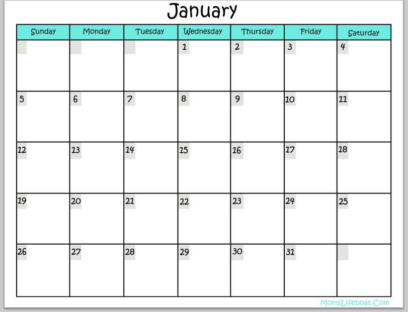 Write On Calendar Template Romeondinez