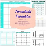 Household Printables Collage
