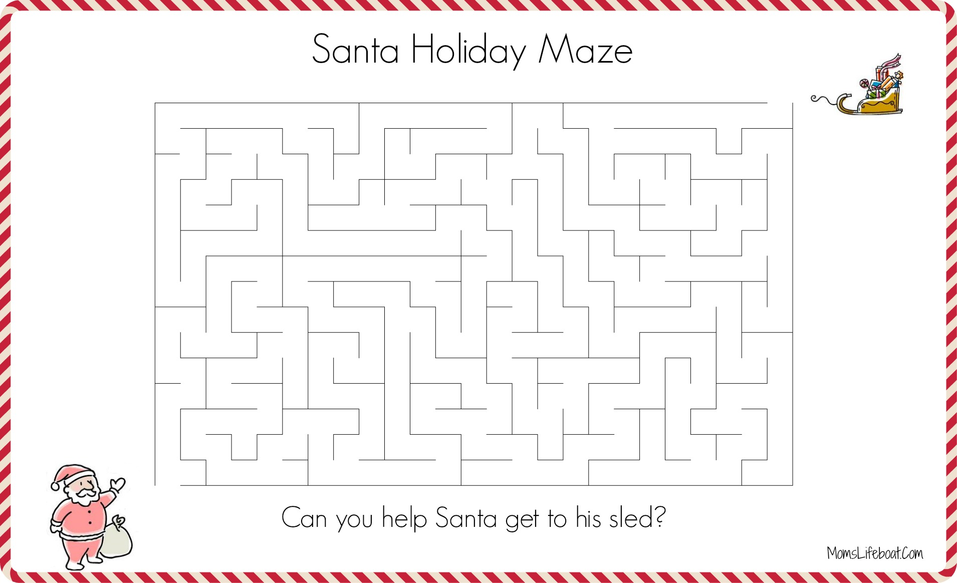 graphic relating to Christmas Maze Printable referred to as Xmas Maze Match - Assistance Santa