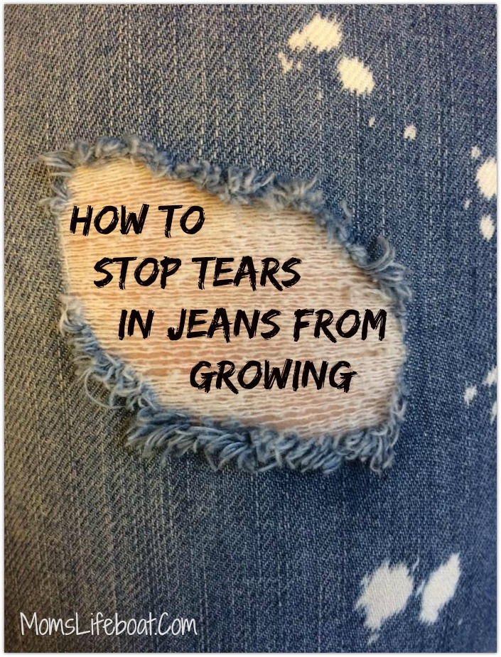 How to Stop Tears or Rips  in Jeans from Growing