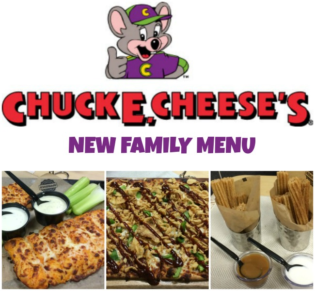 Chuck E Cheese menu