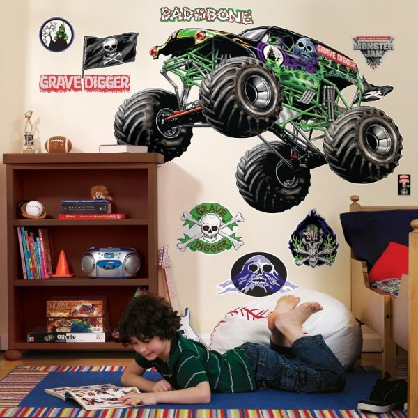 Monster Jam Wall Decals
