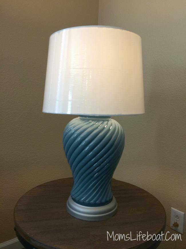 repurposed thrift store lamp