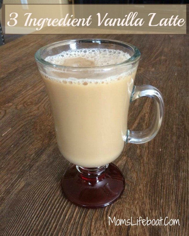3 ingredient vanilla latte