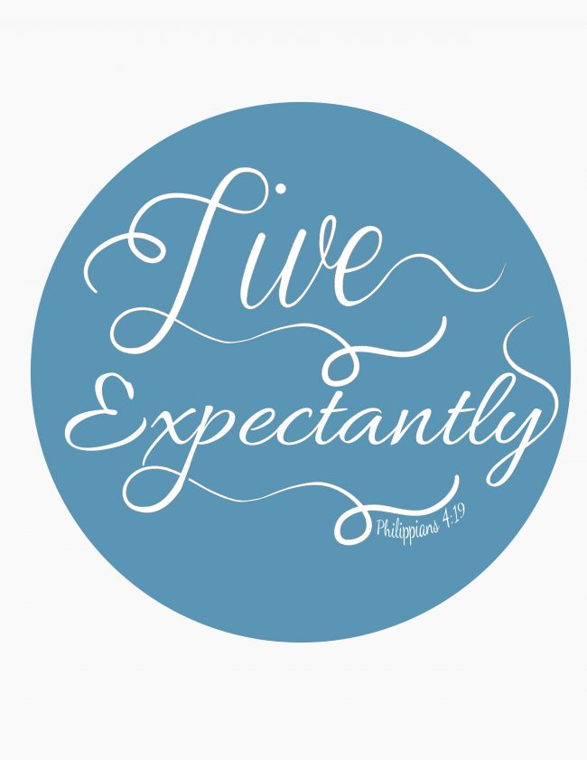 Live Expectantly blue