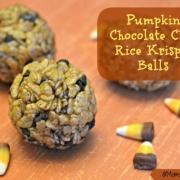 Pumpkin Chocolate Chip Rice Krispie Balls