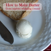 How to Make Butter Using Expired Whipping Cream
