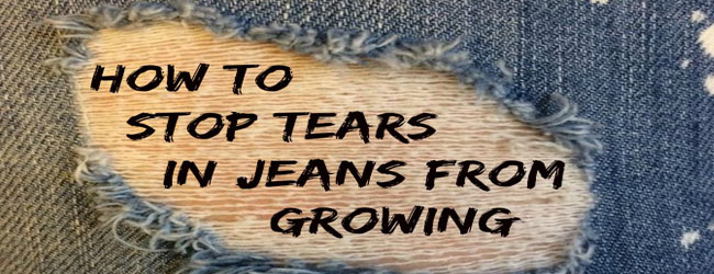 how to fix tears in jeans